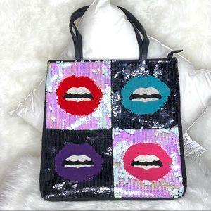 Betsey Johnson Sequin Lips Handbag